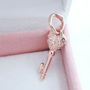 Pandora Rose Gold Regal Key Pendant Charm